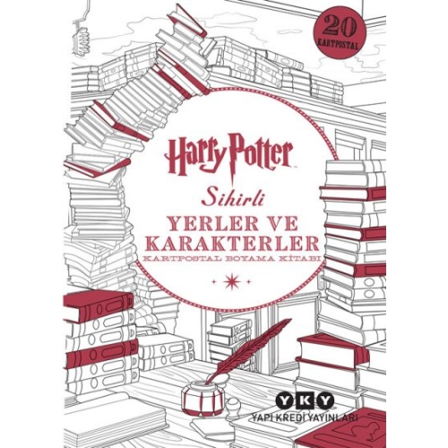 Harry Potter Sihirli Yerler ve Karakterler Kartpostal Boyama Kitabı