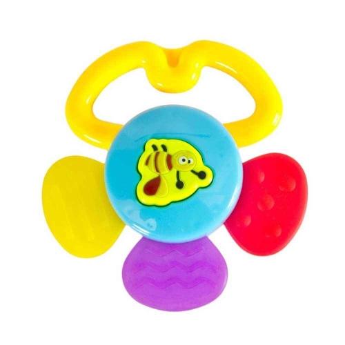 Babyzz Renkli Papatya Çıngırak ve Diş Kaşıyıcı