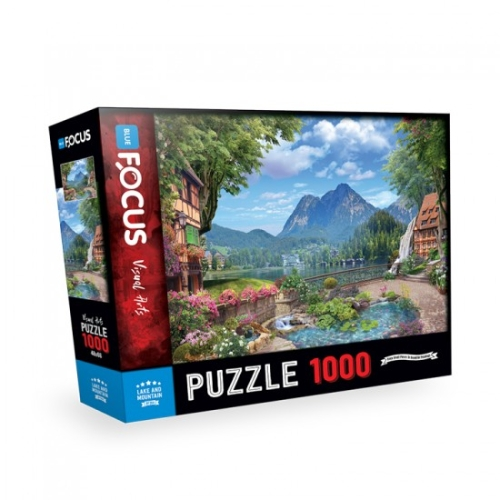 Lake and Mountain 1000 Parça Puzzle - Focus