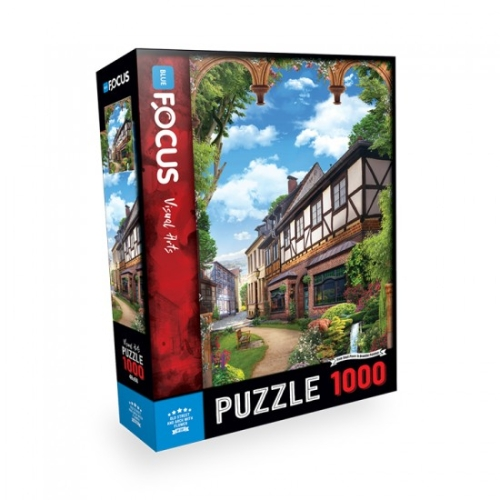 Old Street and Arch With Flower 1000 Parça Puzzle - Focus