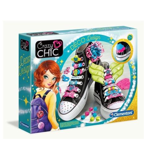 Clementoni Crazy Chic Dekoratif Dizaynlar Ayakkabı Süsleme Seti