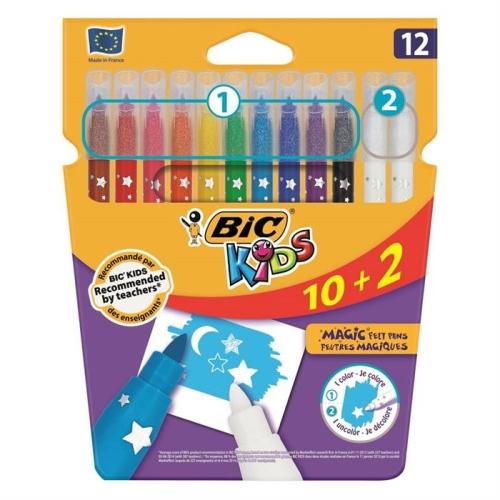 Bic Magic Silinebilir Keçeli Boya Kalemi 12`li Kutu