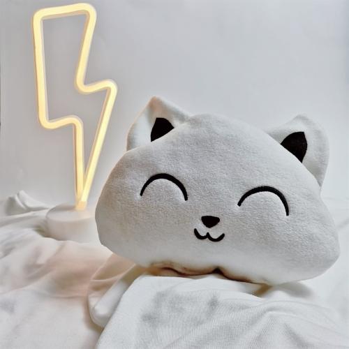 Beyaz Peluş Kedi Yastık