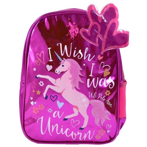 US Polo I Wish Unicorn Koyu Pembe Hologram Sırt Çantası