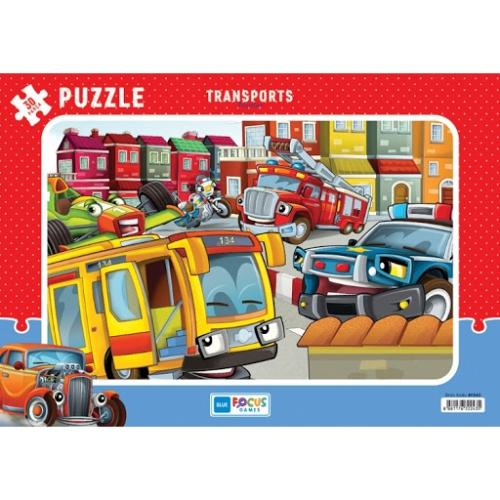 Taşıtlar Frame Puzzle - 30 Parça