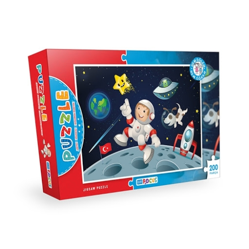 Focus Games Astronot Kutulu Puzzle - 200 Parça