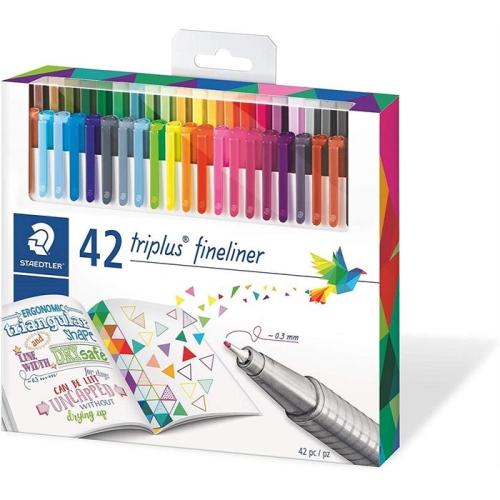 Staedtler Triplus Brilliant Colours 0.3mm 42'li Fineliner