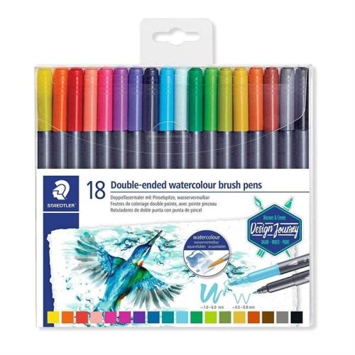 Staedtler Double Ended Watercolour Fırça Uçlu Kalem Seti 18li