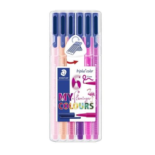 Staedtler Triplus Color Flamingo Renkler 1.0 Mm 6'lı Keçeli Kalem Seti