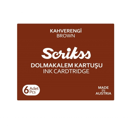 Scrikss Dolma Kalem Kartuşu 6lı - Kahverengi