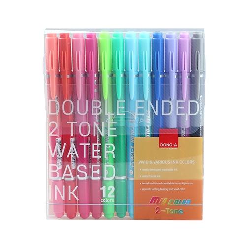 Dong-A My Color 2 Çift Uçlu Keçeli Kalem 12 Renk