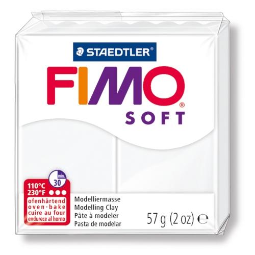 Fimo Soft 57 gr Modelleme Kili - 0 White