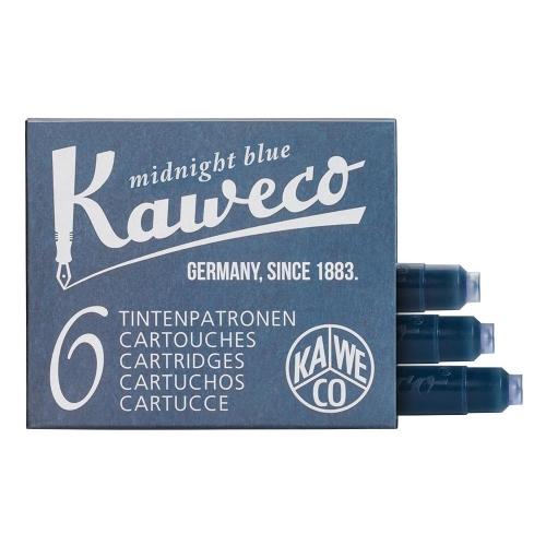 Kaweco Dolma Kalem Kartuşu 6lı - Mavi/Siyah
