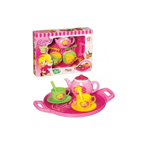 Candy Ken Tepsili Çay Seti 17 Parça