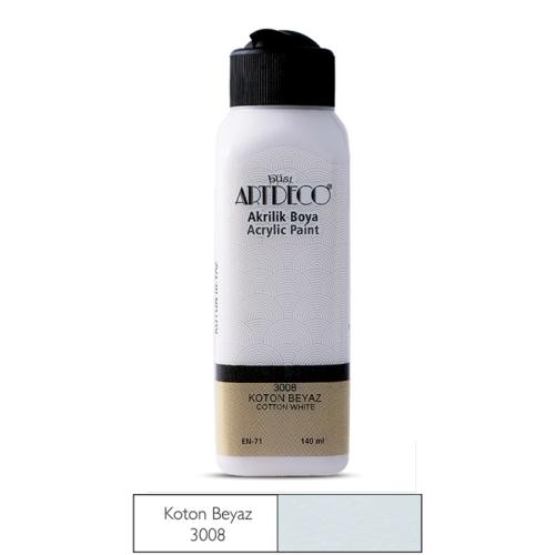 Artdeco Akrilik Boya 140 ML Koton Beyaz - 3008