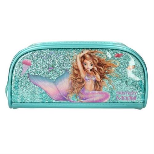 Top Model Mermaid Tek Gözlü Mavi Kalem Kutu
