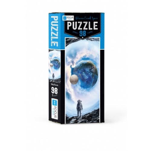 Astronaut and Space 98 Parça Kutulu Puzzle