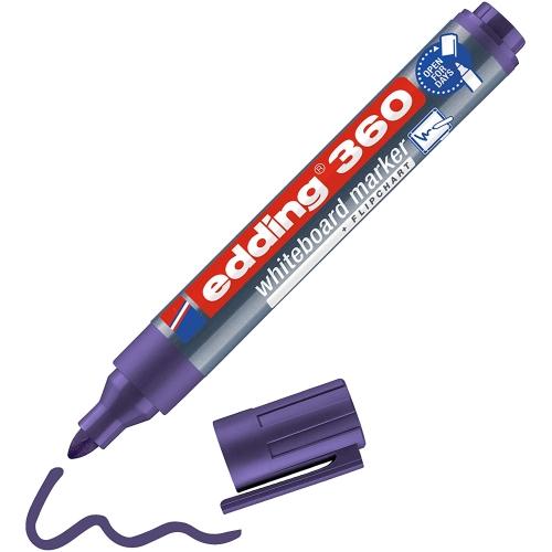 Edding 360 Doldurulabilir Beyaz Tahta Kalemi - Mor