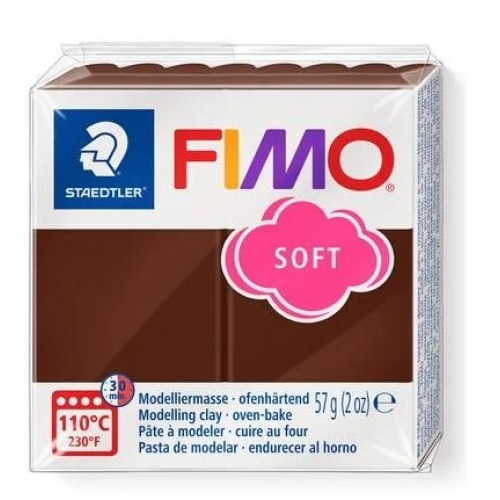 Fimo Soft 57 gr Modelleme Kili - 75 Chocolate
