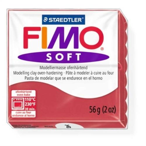Fimo Soft 57 gr Modelleme Kili - 26 Cherry Red