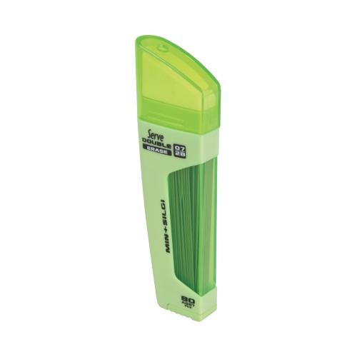 Serve Double Erase 0,7 Uç ve Silgi - Yeşil