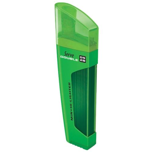 Serve Double 05 Uç ve Fosforlu Kalem - Yeşil