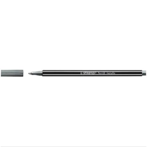 Stabilo Pen 68/805 Metalik Gümüş