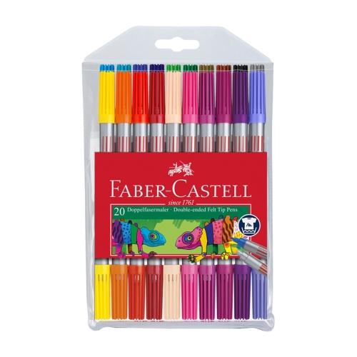 Faber Castell 20 Renk Çift Taraflı Keçeli Kalem Seti