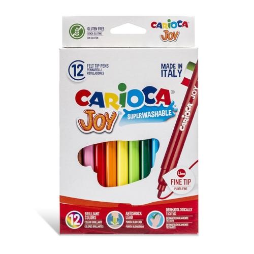 Carioca Joy Süper Yıkanabilir Keçeli Boya Kalemi 12'li