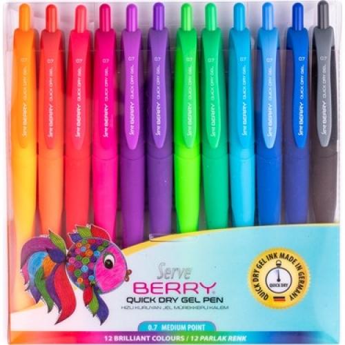 Serve Berry Jel Kalem Seti 12 Renk