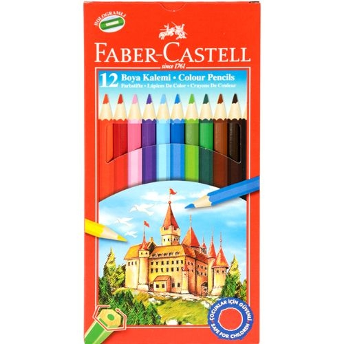 Faber Castell 12 Renk Kuru Boya Kalemi