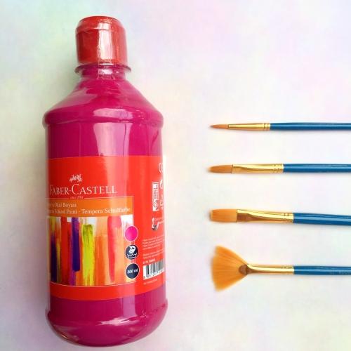 Faber Castell Tempera Okul Boyası 500 ML - Pembe