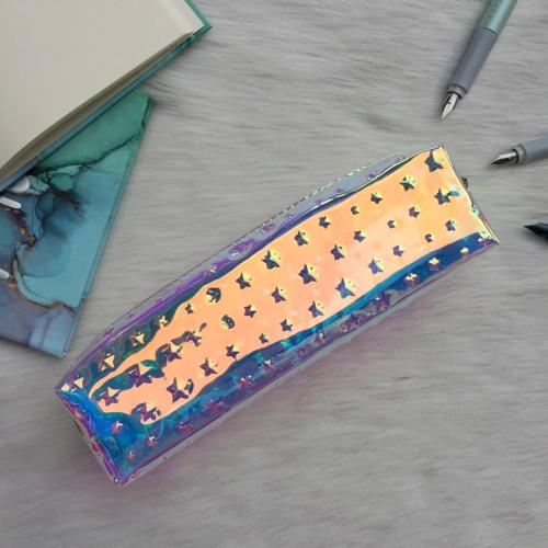 Metalik Hologram Yıldızlı Kalem Kutu