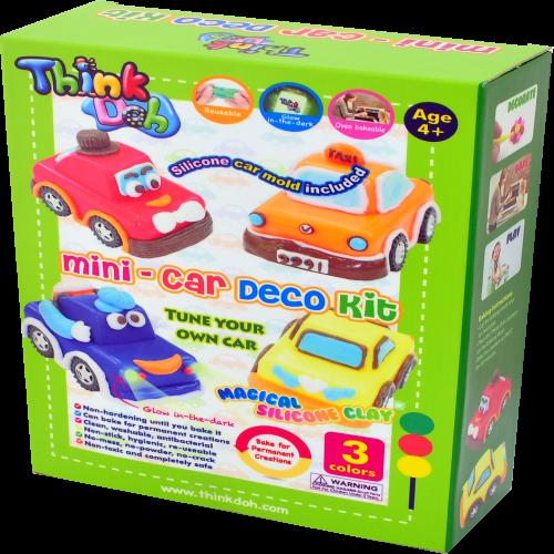 Think-Doh Mini Silikon Hamur Araba Yapım Seti