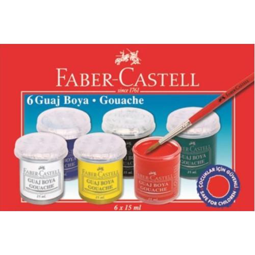Faber Castell Guaj Boya 6 Renk