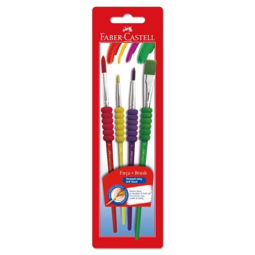 Faber Castell Soft Touch Fırça Seti 4lü
