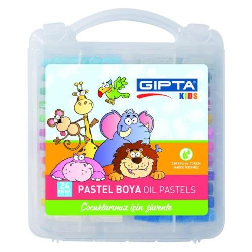 24 Renk Çantalı Pastel Boya - Gıpta Kids
