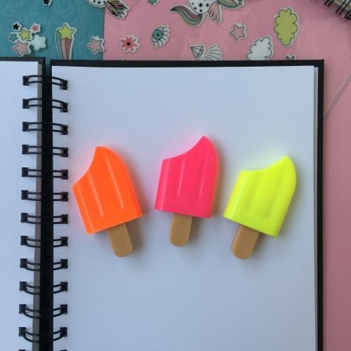 Dondurma 3'lü Fosforlu Kalem Seti