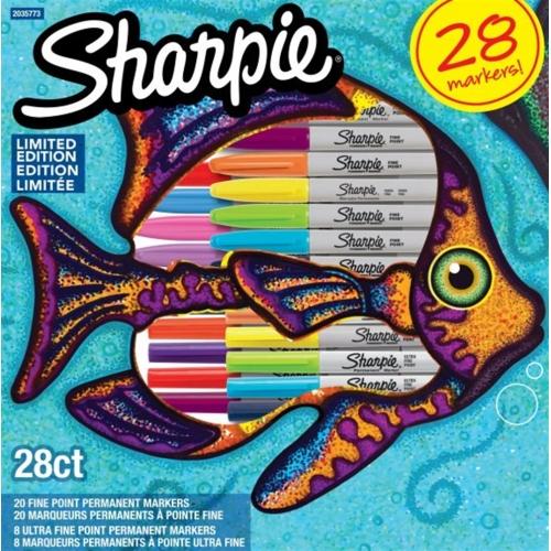 Sharpie 28'li Markör Özel Seri Balık