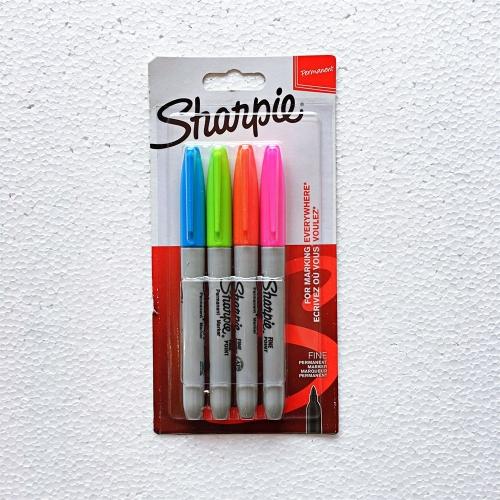 Sharpie Permanent Markör 4'lü Canlı Renkler