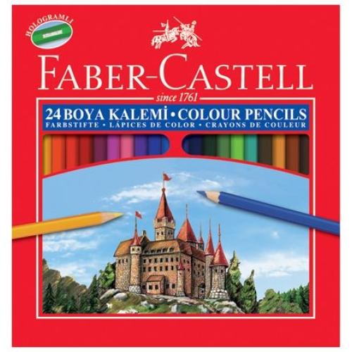 Faber Castell 24 Renk Kuru Boya Kalemi