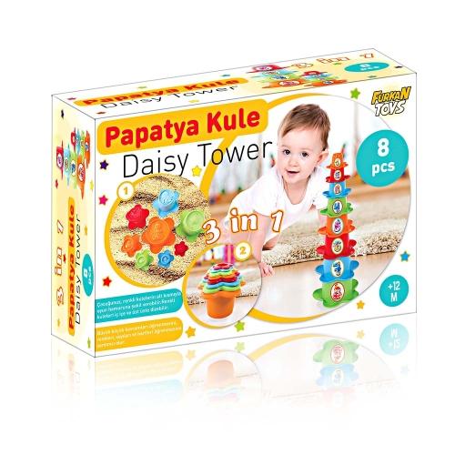 Babies Eğitici Papatya Kule