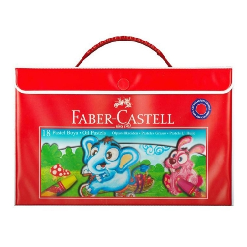 Faber Castell 18 Renk Çantalı Pastel Boya Kalemi