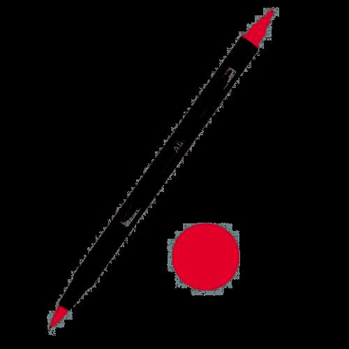 Tombow ABT Dual Brush Çift Uçlu Keçeli Kalem Persimmon - 835