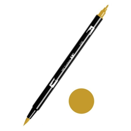 Tombow ABT Dual Brush Çift Uçlu Keçeli Kalem Yellow Gold - 026
