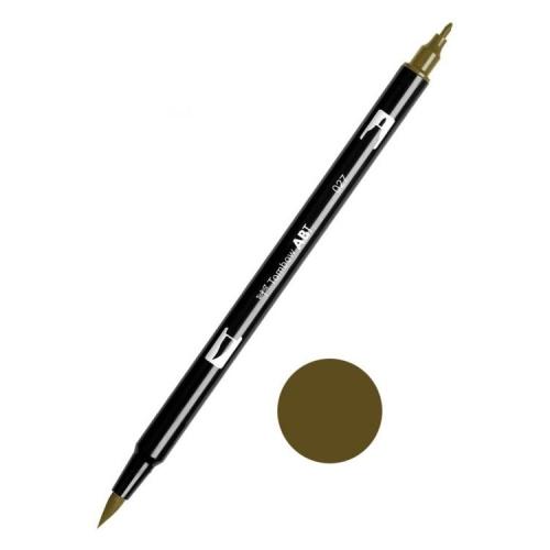 Tombow ABT Dual Brush Çift Uçlu Keçeli Kalem Dark Ochre - 027