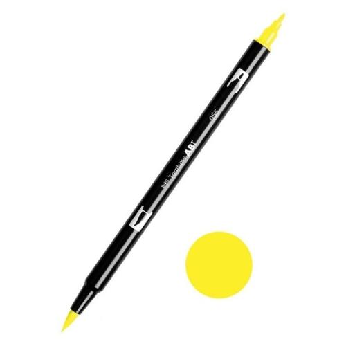 Tombow ABT Dual Brush Çift Uçlu Keçeli Kalem Process Yellow - 055