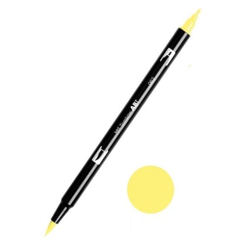 Tombow ABT Dual Brush Çift Uçlu Keçeli Kalem Pale Yellow - 062