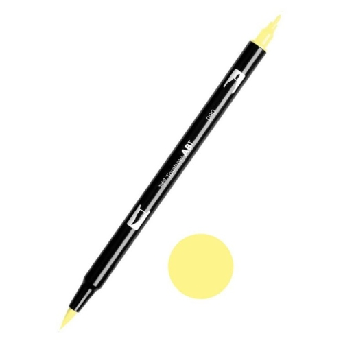 Tombow ABT Dual Brush Çift Uçlu Keçeli Kalem Baby Yellow - 090