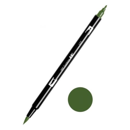 Tombow ABT Dual Brush Çift Uçlu Keçeli Kalem Dark Jade - 177